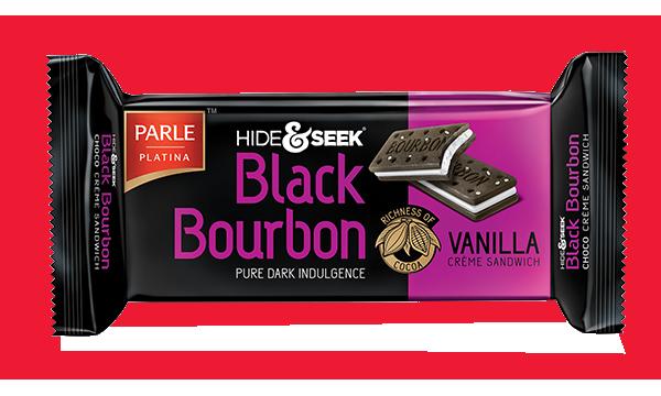 Parle  Hide and Seek Black Bourbon-Vanilla Creme Sandwich